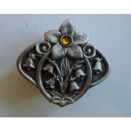 A E Williams Stone Set Flower  Trinket Box