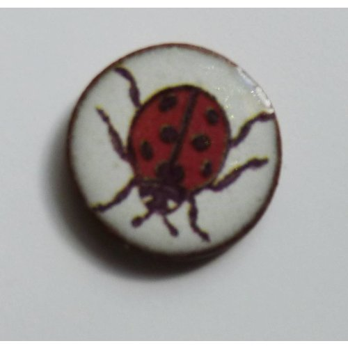 Stockwell Ceramics Copy of Heart Strawberry thief Bird Brooch