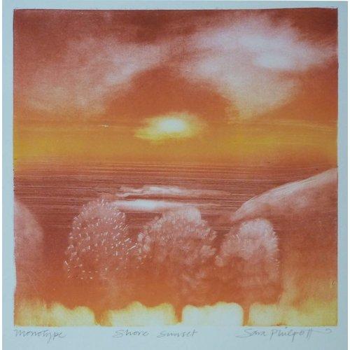 Sara Philpott Shore Sunset 22 x 22 cm