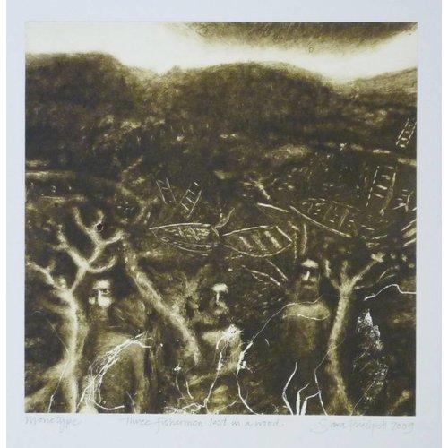 Sara Philpott Three Fishermen Lost in a Wood 20 x 20 cm
