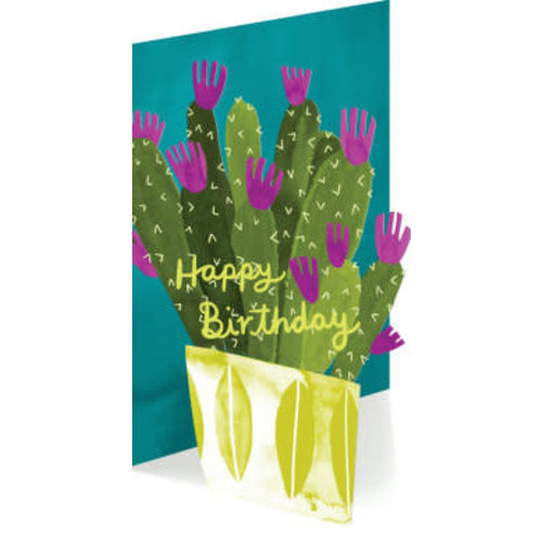 Roger La  Borde Cactus Birthday  Laser Card
