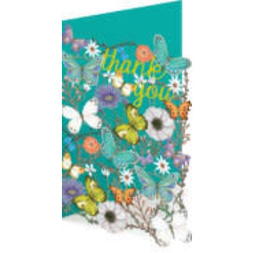 Roger La  Borde Butterfly Thank You  Laser Card