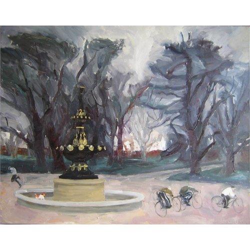 Margaret Shields Fountain in Winter