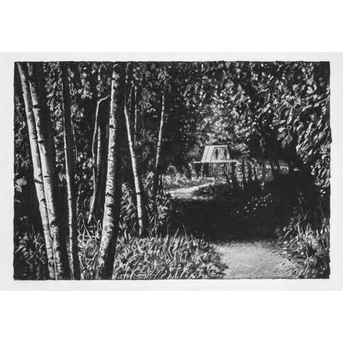 Mike Holcroft Copy of Love On Path By The Railway Todmorden Giclee print mounted 40 cm x 27 cm