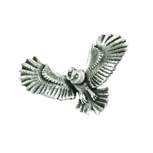 A E Williams Owl in flight stick pin