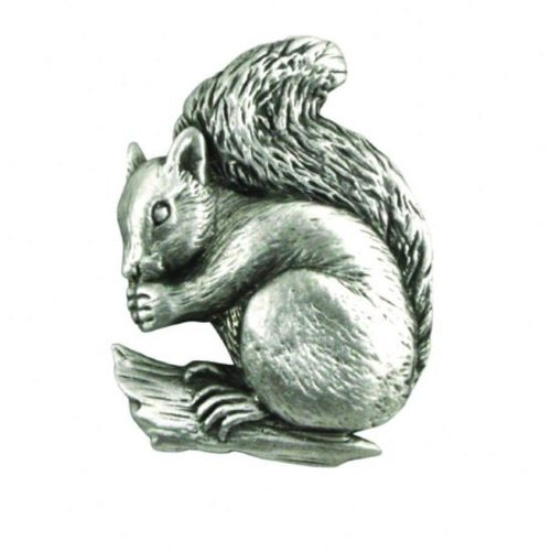 A E Williams Squirrel Sitting lapel pin