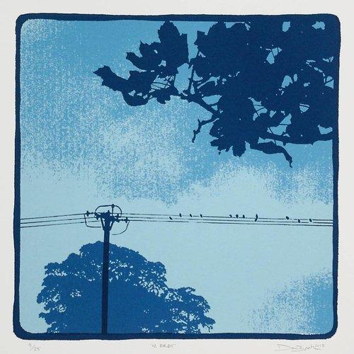 West Yorkshire Print Workshop 12 Vögel Ed.35