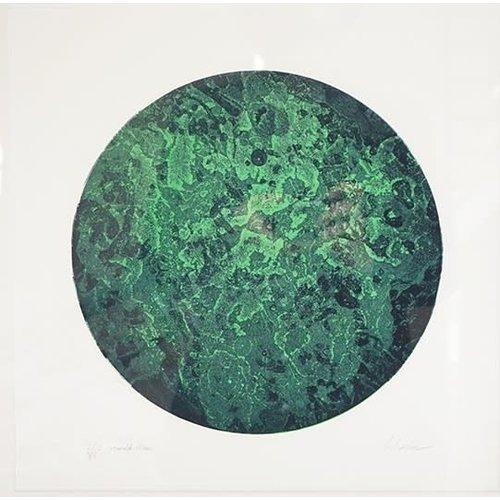 West Yorkshire Print Workshop Smaragd-Mond