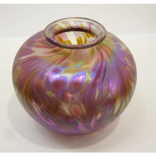 Isle of Wight Glass Featherspray Amphora