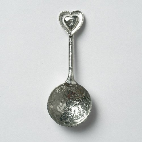 Glover and Smith Heart Small Sugar Spoon