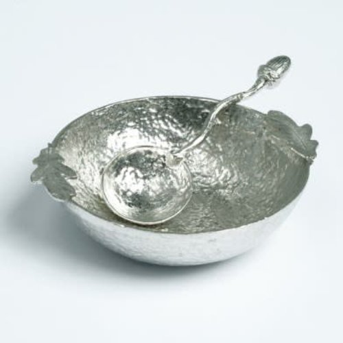 Glover and Smith Oak Leaf Bowl with Acorn Spoon