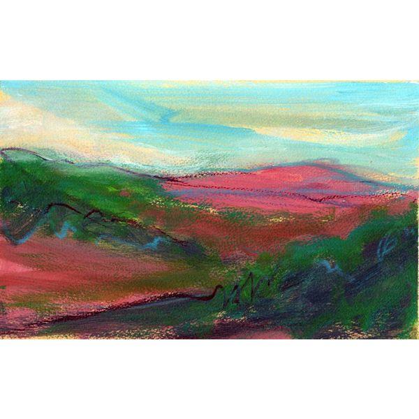 Entfernter rosa Hügel