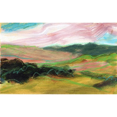 Liz Salter Copy of Distant Pink Hill