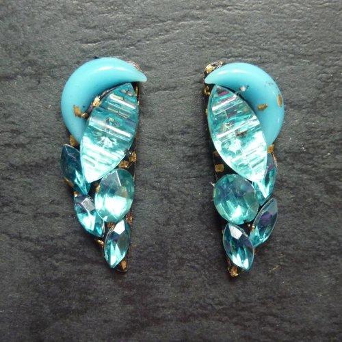 Annie Sherburne Copy of Vintage  purple  Stud earrings crystal assemblage