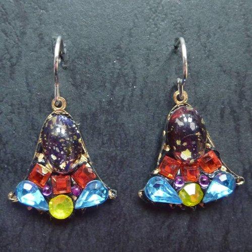 Annie Sherburne Vintage  Harebell multi drop crystal earrings