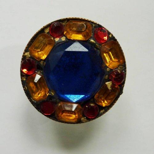 Annie Sherburne Vintage Multi round  crystal ring