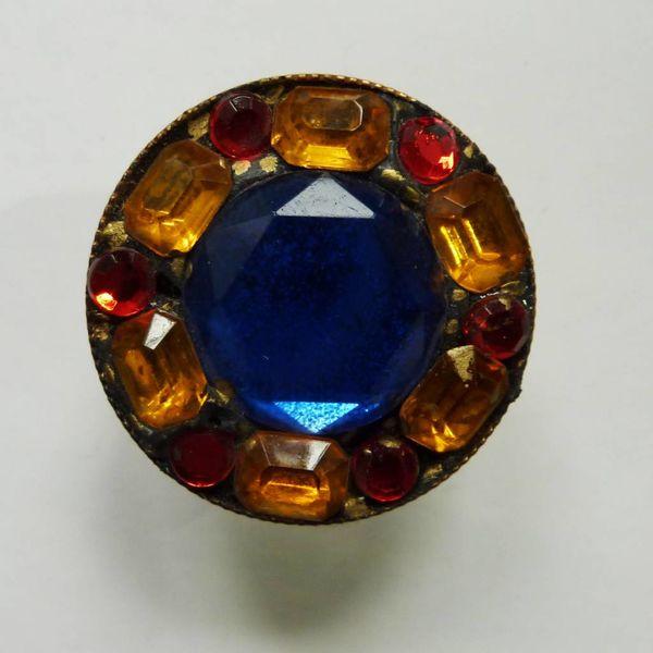 Vintage Multi round ring crystal assemblage