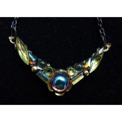 Annie Sherburne Vintage Citrine Necklace crystal assemblage