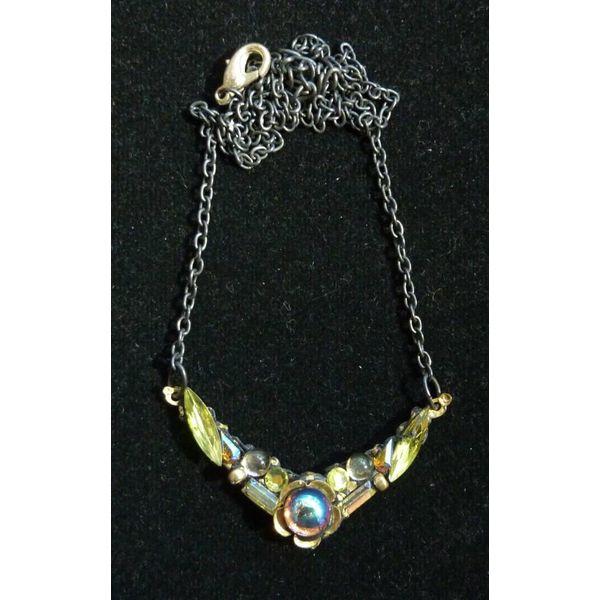 Vintage Citrine Necklace crystal assemblage