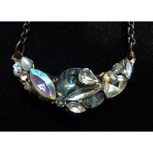 Annie Sherburne Vintage Quartz Necklace crystal assemblage