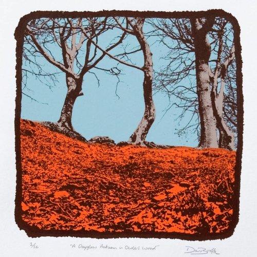 West Yorkshire Print Workshop Ein Tagglühen-Herbst in Owlers Wood Ed. 26
