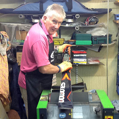 Ski repairs in our workshop