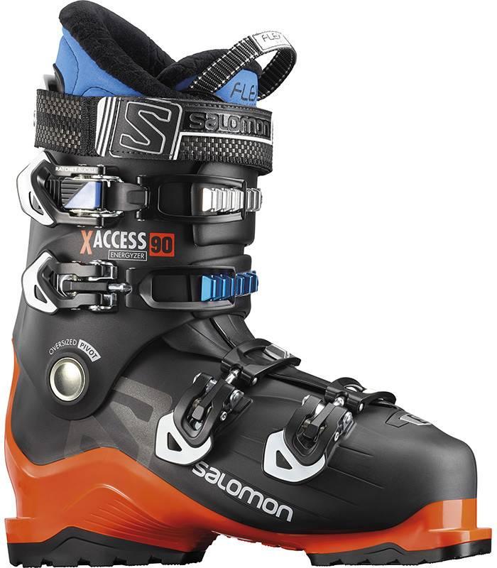 Salomon X ACCESS 90: Black / Orange / Indigo Blue Ski Boots