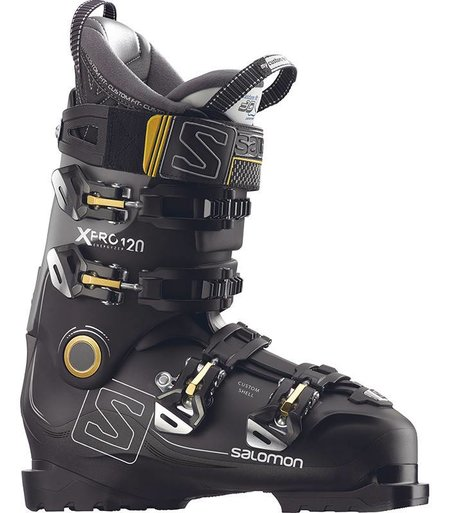 Salomon X PRO 120: Black / Metallic Black / Light Grey Ski Boots