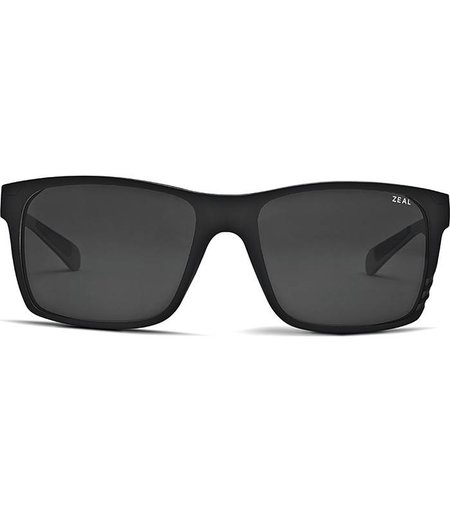 Zeal Optics BREWER: Matte Black Frame - Ellume Dark Grey Lens