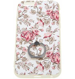 iPhone 6 / 6S Ring Hard Case (Flowers) Plastic