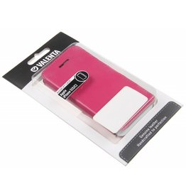iPhone 5/5S/SE Valenta Croco Book Case Pink