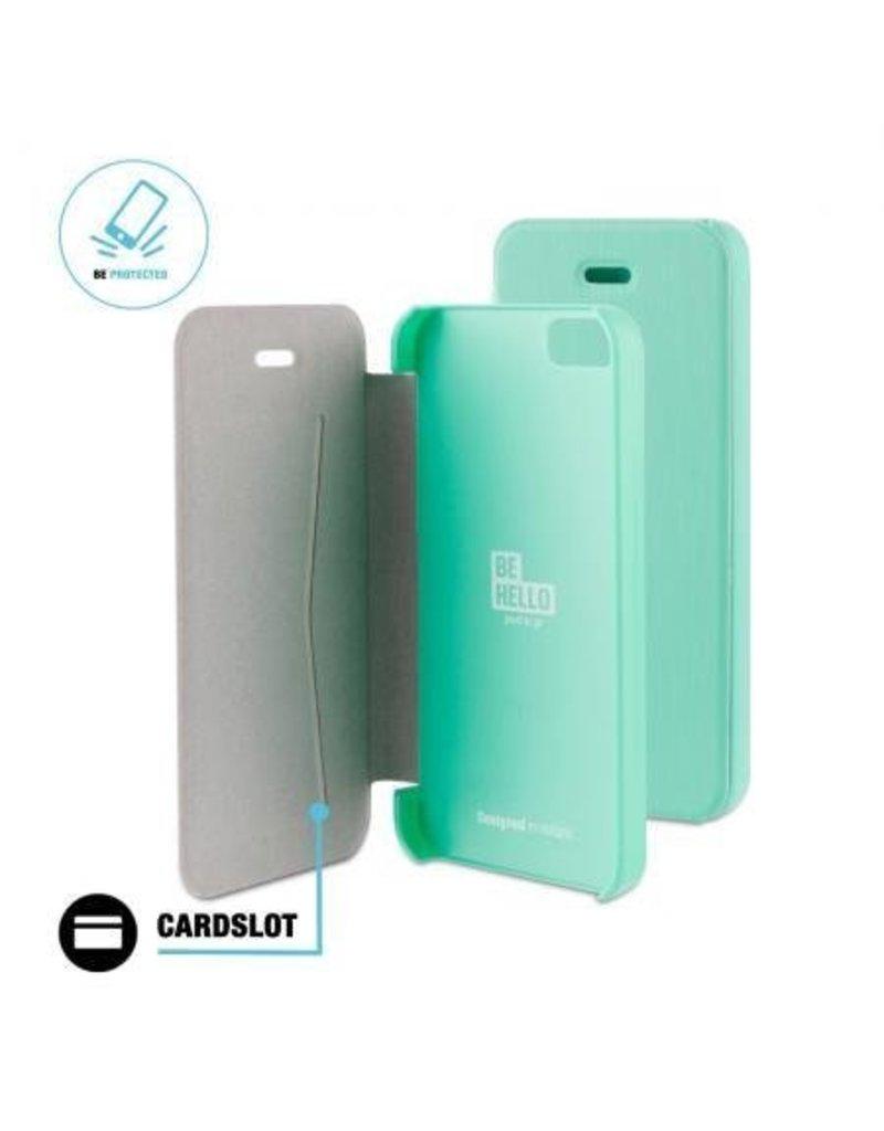 BeHello iPhone 5/5S/SE Book Case Green