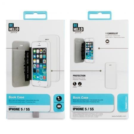 BeHello iPhone 5/5S/SE Book Case White