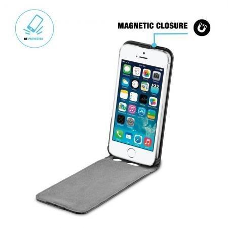 BeHello iPhone 5/5S/SE Flip Case Black