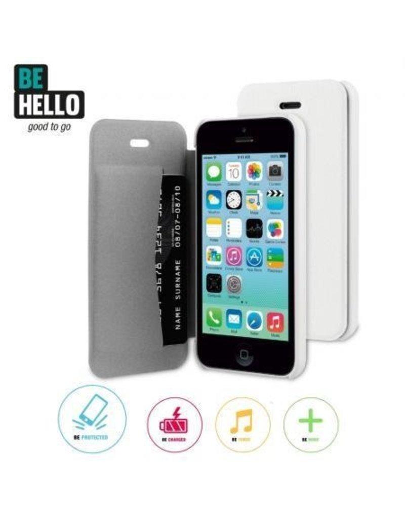 BeHello iPhone 5C Book Case White