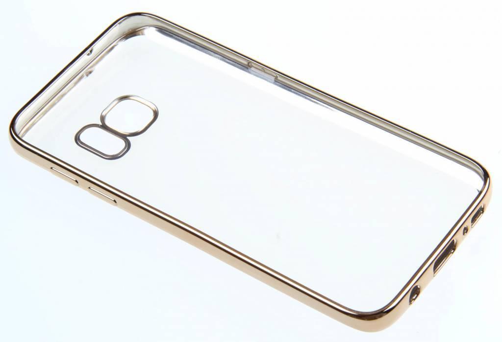 BeHello Samsung Galaxy S7 Gel Case Transparent Chrome Edge Gold