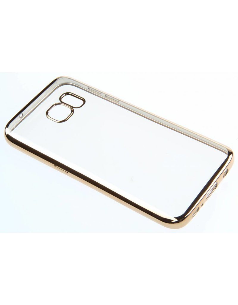 BeHello Samsung Galaxy S7 Gel Case Transparent Chrome Edge Gold