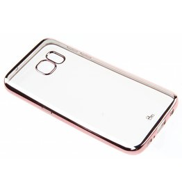 BeHello Samsung Galaxy S7 Gel Case Transparent Chrome Edge Rose Gold