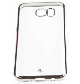 BeHello Samsung Galaxy S7 Gel Case Transparent Chrome Edge Silver