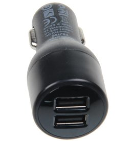 Melkin Car Adapter DUAL Port 10W + Lightning USB Cable + Micro USB Cable Black