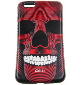 iPhone 6 Plus / 6S Plus Hard Case (Red Skull Print)