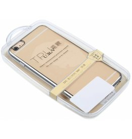 iPhone 6 Plus / 6S Plus U.R.V. TPU Case with Silver Edge TPU Transparent