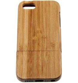 iPhone 5/5S/SE Wood Hard Case Light-Brown