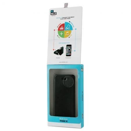 BeHello iPhone 5C Book Case Black