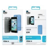 BeHello iPhone 5C Book Case Blue
