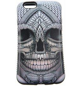 iPhone 6 / 6S Hard Case (Gray Skull Print)