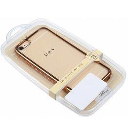 iPhone 6 / 6S U.R.V. TPU Case with Diamond Gold Edge Transparent