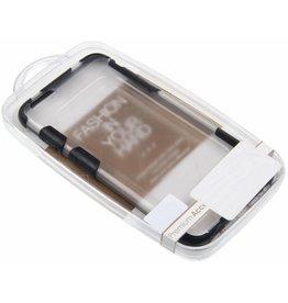iPhone 6 Plus / 6S Plus H.Q. Hard Case with Black TPU Corners Plastic Transparent