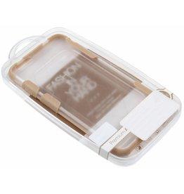 iPhone 6 Plus / 6S Plus H.Q. Hard Case with Gold TPU Corners Plastic Transparent