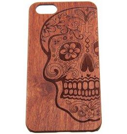 iPhone 6 Plus / 6S Plus Wood Hard Case (Skull) Dark-Brown